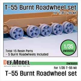 T-55 Burnt roadwheel set (for T-55 kit 1/35)