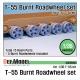 T-55 Burnt roadwheel set (for T-55 kit 1/35)