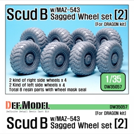 Scud B w/MAZ-543 Sagged Wheel set 2 (for Dragon 1/35)