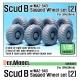 Scud B w/MAZ-543 Sagged Wheel set 2 (for Dragon 1/35)