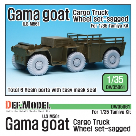 US M561 'Gama Goat' Sagged Wheel set (for Tamiya 1/35)