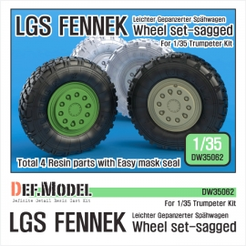 German LGS Fenneck Sagged Wheel set (for Trumpeter 1/35)