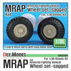 US MRAP M-pro Sagged wheel set (for Kinetic 1/35)