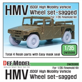 JSDGF HMV Sagged Wheel set (for Finemolds 1/35)