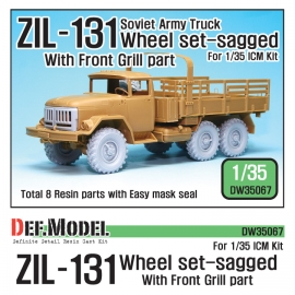 ZIL-131 Sagged wheel set with Correct Grill parts (for ICM 1/35)
