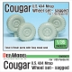 US Cougar 4X4 MRAP Sagged Wheel set (for Panda 1/35)