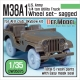 US M38A1 4X4 truck Sagged Wheel set (for AFV club 1/35)