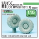 US M1082 LMTVT Mich. Sagged Wheel set-1 (for Trumpeter 1/35)