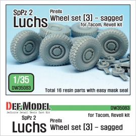 German Luchs 8X8 Pirxlli Sagged Wheel set-3 (for Tacom/Revell 1/35)