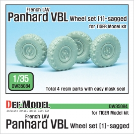 French Panhard VBL LAV Sagged Wheel set-1(for Tiger model 1/35)