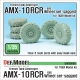 French AMX-10 RCR Tank Destroyer 6x6 Sagged Wheel set (for Tiger model 1/35)