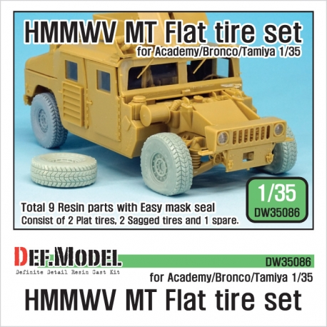 U.S. HMMWV MT Flat tire set (for Academy/Bronco/Tamiya 1/35