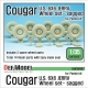 U.S. Cougar 6X6 JERRV Sagged Wheel set - 2 Spare wheel (for Panda 1/35)