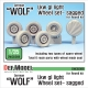 German Wolf Lkw gl light Sagged Wheel set (for Revell 1/35)