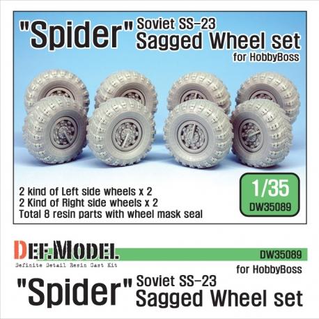 """Soviet SS-23 """"Spider"""" Sagged Wheel set (for HobbyBoss 1/35)"""