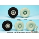 "US HEMTT ""XZL"" M977,M983 Sagged Wheel set (for Trumpeter/Italeri 1/35)"