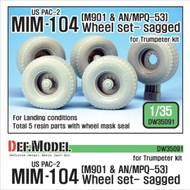 US MIM-104 M901 & AN/MPQ-53 Wheel set - Sagged (for Trumpeter 1/35)