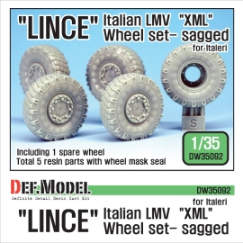 "Italian LMV Lince ""XML"" Sagged Wheel set (for Italeri 1/35)"