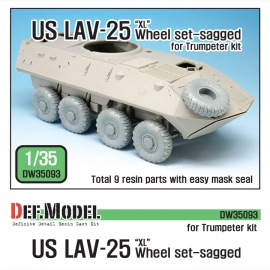 "US LAV-25 ""XL"" Sagged wheel set (for Trumpeter 1/35)"