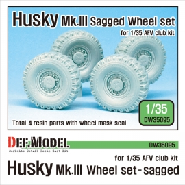 US Husky Mk.III Sagged wheel set (for AFV Club 1/35)