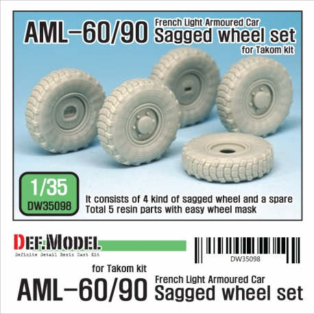 Franch AML-60/90 Sagged Wheel set (for Takom 1/35)