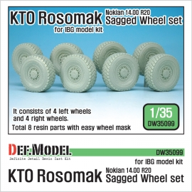 KTO ROSOMAK Nokian Sagged Wheel set ( for IBG model 1/35)