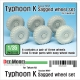 Russian Typhoon K MRAP Sagged Wheel set ( for Takom 1/35)
