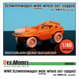 Schwimmwagen Wide Tire(continental)-Sagged (for Tamiya 1/48)