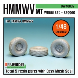 HMMWV MT Sagged Wheel set (for Tamiya 1/48)