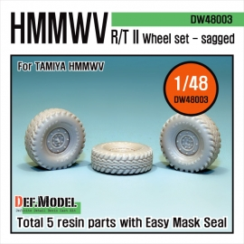 HMMWV RT/II Sagged Wheel set (for Tamiya 1/48)