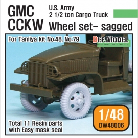 US Army GMC CCKW Wheel set (for Tamiya 1/48)