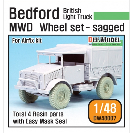 British Bedford MWD Light Truck Wheel set (for Airfix 1/48)