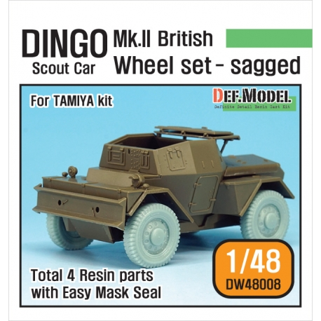 "British Armored Scout Car ""DINGO"" Mk.II Wheel set (for Tamiya 1/48)"
