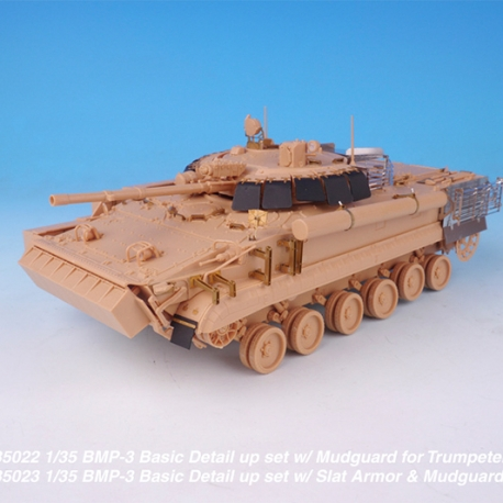 1/35 BMP-3 Basic Detail up set w/ Slat Armor & Mudguard for Trumpeter