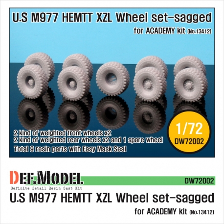 "M977 HEMTT ""XZL"" Sagged Wheel set (for Academy 1/72)"