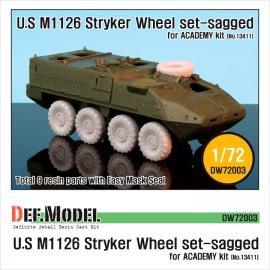 M1126 Stryker ICV Sagged Wheel set (for Academy 1/72)