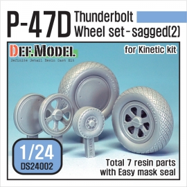P-47D Thunder Bolt Wheel set 2 (for Kinetic 1/24)