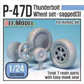 P-47D Thunder Bolt Wheel set 3 (for Kinetic 1/24)