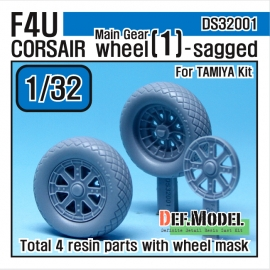 F4U-1 Corsair Wheel set 1 (for Tamiya 1/32)