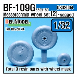 Bf109G-6 Wheel set 2 (for Revell, ETC 1/32)