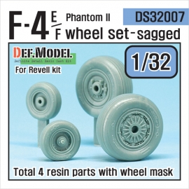 F-4E Phantom II Wheel set (for Revell 1/32)