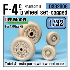 F-4C/D Phantom II Wheel set (for Tamiya 1/32)