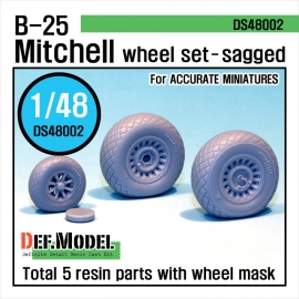 B-25 Mitchell Wheel set (for Accurate Miniature 1/48)