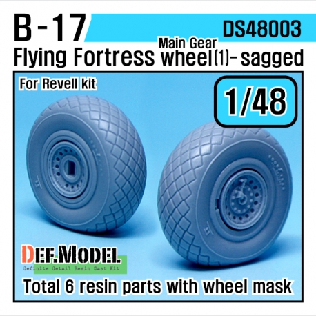 B-17F/G Flying Fortress Wheel set 1 (for Revell 1/48)