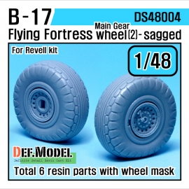 B-17F/G Flying Fortress Wheel set 2 (for Revell 1/48)
