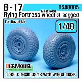 B-17F/G Flying Fortress Wheel set 3 (for Revell 1/48)