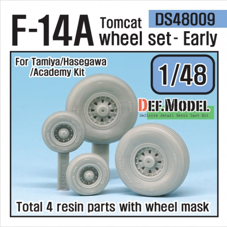 F-14A tomcat sagged wheel set- Early (for Tamiya/hasegawa 1/48)
