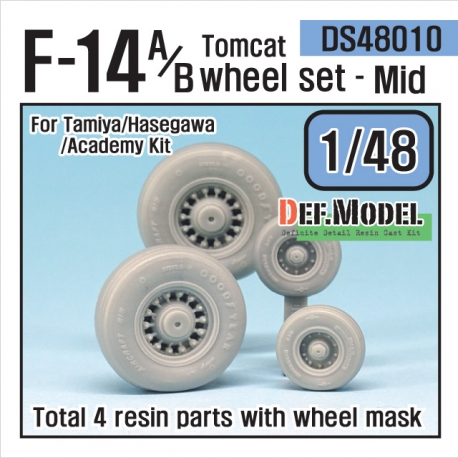 F-14A/B tomcat sagged wheel set- Mid. (for Tamiya/Hasegawa 1/48)