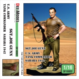 "1/16 WWII US Army Tank commander ""Sgt. Joe"" Sahara 1941"