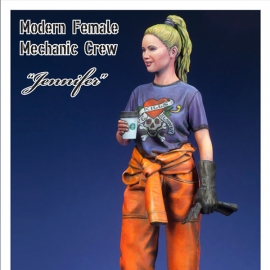 "Female Mechanic crew ""Jennifer"" w/ base 1/35"